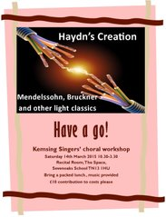 Choral workshop, 14 March 2015