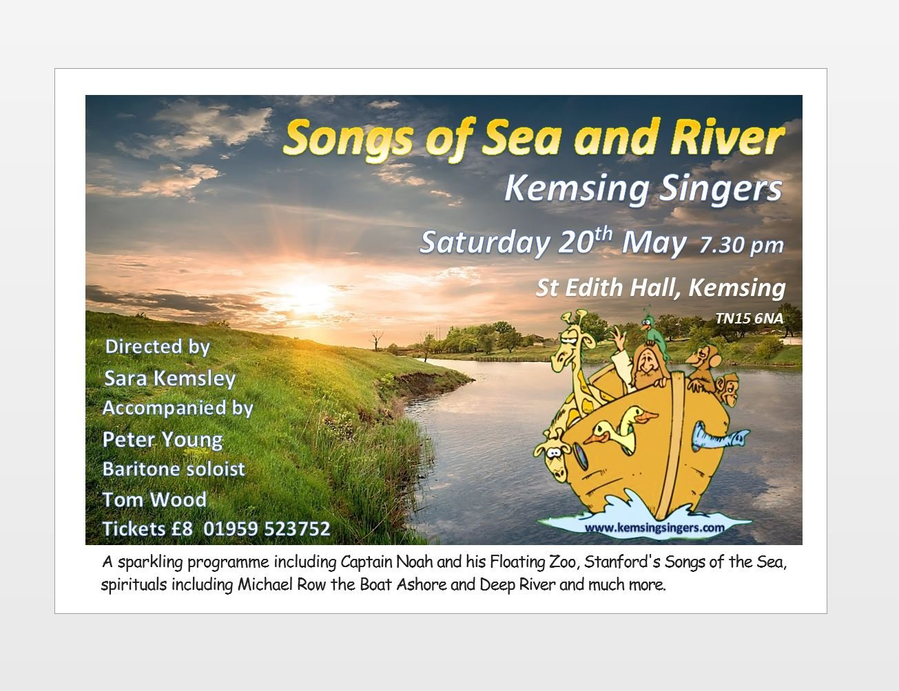 Songs of Sea and River, 20 May 2017